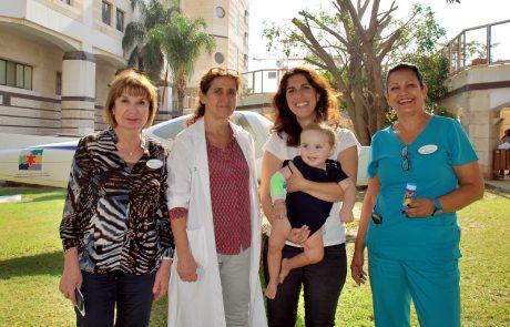 ניתוח נדיר של השתלת כליה בתינוק בן שנה ועשרה חודשים בוצע במרכז שניידר לרפואת ילדים