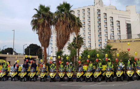 """אופנועי מד""""א מצילים חיים: נחנך האופנוע ה-500"""