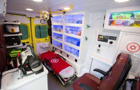 """למקרי חירום בשטח: בדיקות דם ואולטרסאונד בניידת טיפול נמרץ ייחודית של מד""""א בשיתוף בית החולים איכילוב"""