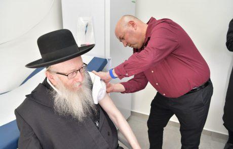 ליצמן חנך לשכת בריאות חדשה בבית שמש – והתחסן נגד השפעת