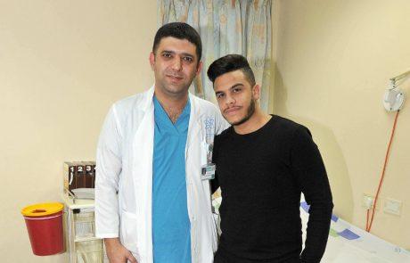 ניתוח מורכב לשחזור רצועה בוצע בשחקן כדורגל