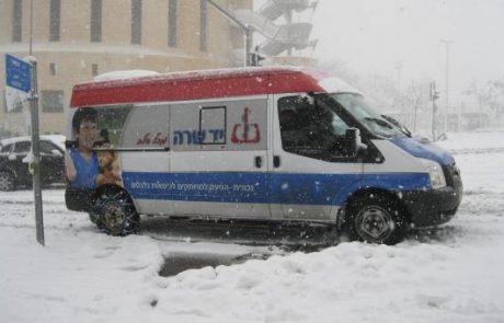 לא עוצרים בלבן:יד שרה בהיערכות שלג