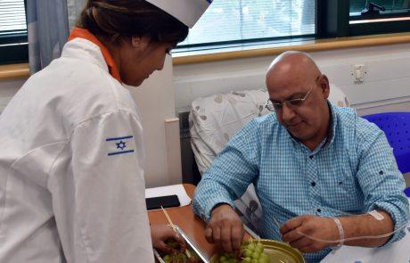 תלמידי תיכון רימונים העבירו סדנה קולינרית למטופלים האונקולוגים