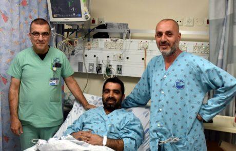 """עם כאבים בחזה, כשכל דקה גורלית פונו בהפרש של שעות שני תושבי הגולן במסוק לצנתור בביה""""ח פוריה"""