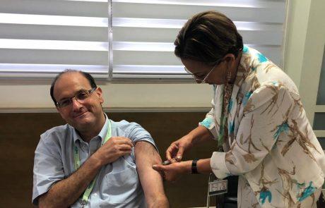 מנהלים את השפעת בסורוקה: גם חברי הנהלת בית החולים התחסנו נגד הוירוס