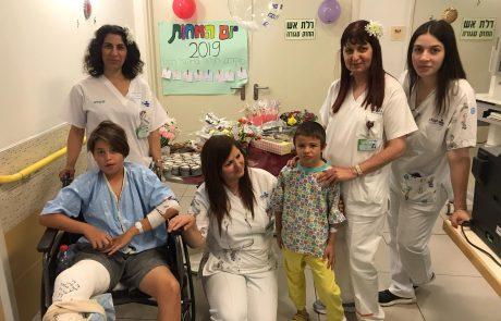 """יום האחות הבינ""""ל 2019: הילדים המאושפזים בקפלן אומרים תודה"""